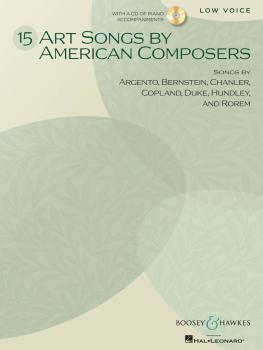 15 Art Songs by American Composers (Low Voice, Book/CD) (HL-48021112)