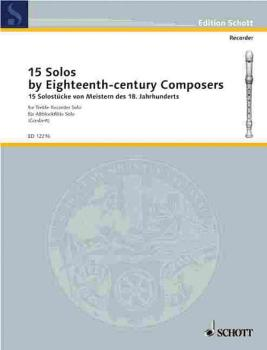 15 Solos by Eighteenth-Century Composers (for Treble Recorder) (HL-49003037)