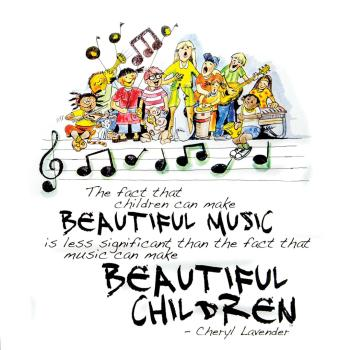 Beautiful Music, Beautiful Children Print (12x12 Unframed Print) (HL-00142693)