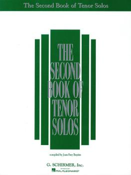 The Second Book of Tenor Solos (HL-50482070)