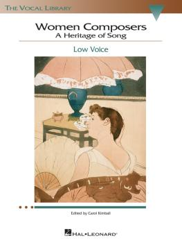 Women Composers - A Heritage of Song: The Vocal Library Low Voice (HL-00740271)